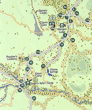 Karte vom Tsavo